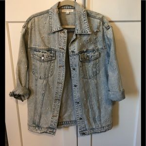 Lulus pearl denim jacket